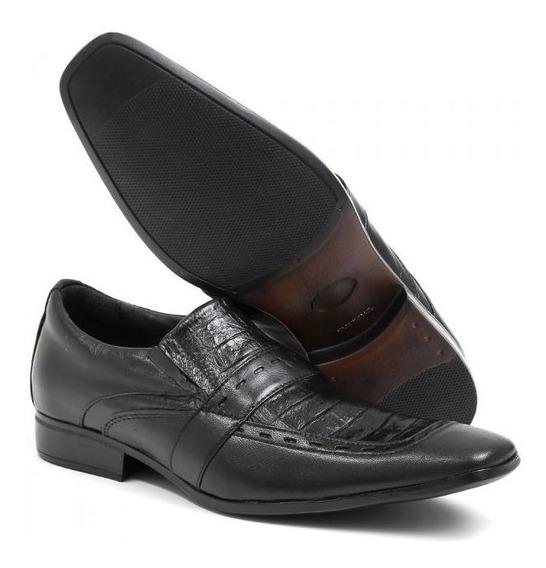 Sapato Social Masculino Pelica Preta 80004b - Frete Grátis