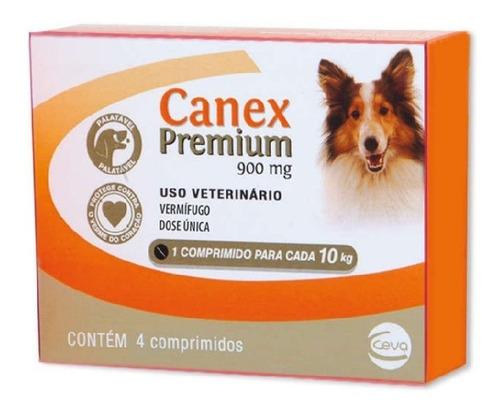 Imagem 1 de 2 de Canex Premium 900mg Vermífugo Cães Até 10kg - 4 Comprimidos