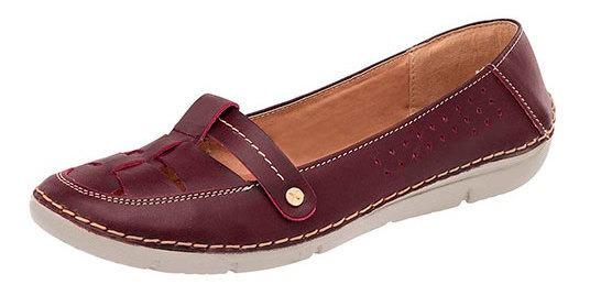 Zapato Piso Piel Zoe Mujer Vino Correatipot D47619 Udt