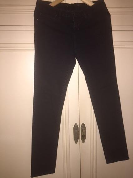 Jean Uma Color Negro Talle 28/42