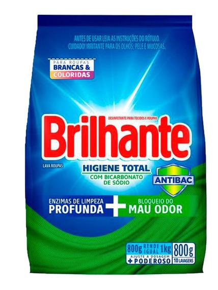 Lava Roupas Sanitizante Em Pó Brilhante Higiene Total 800g