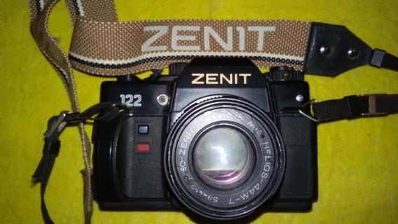 Câmera Fotográfica Analógica Zenit 122 Com Flash - Vintage