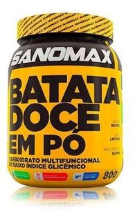 Batata Doce Em Pó 800g - Sanomax - Ganho De Massa