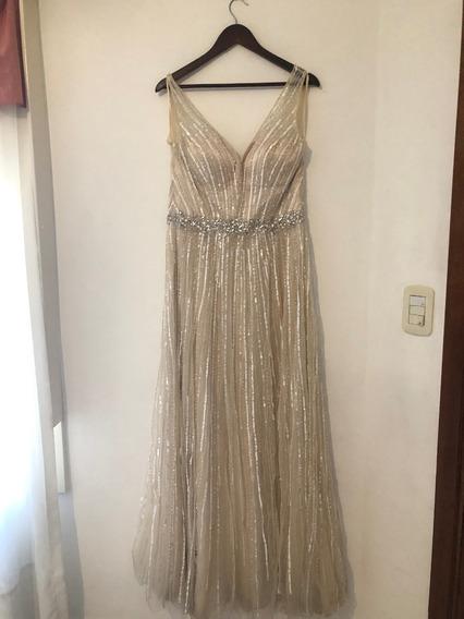 Vestido Trianna Alta Costura Color Champagne Talle M