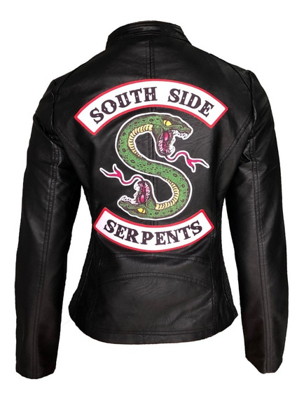 Jaqueta Riverdale South Side Serpents Feminina Logo Grande