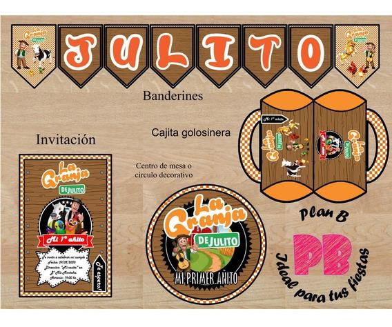 Kit Imprimible Personalizado - Granja De Zenón