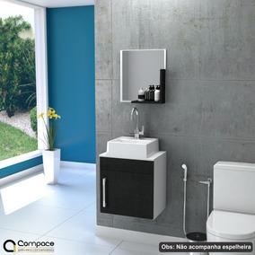 Gabinete Armário P/banheiro (balcão+ Cuba Q32) Liz Uv 45cm #