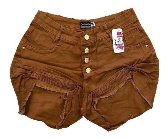 Short Bermuda Verao Hot Pant Grande Cintura Alta Plus Size