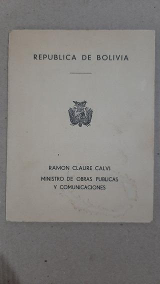 Tarjeta Bolivia - Inauguración Ferrocarril - Año 1957