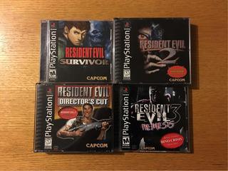 Resident Evil 1 2 3 Nemesis Survivor Directors Ps1 Ps2 Ps3