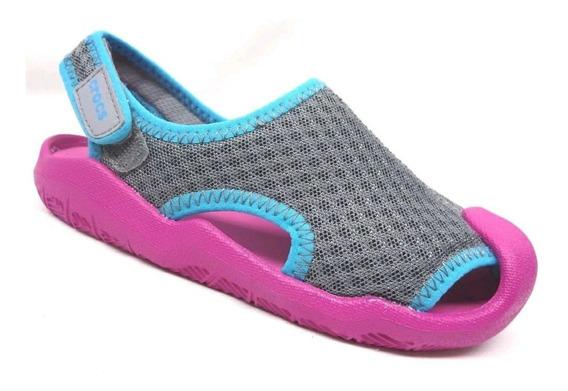 Crocs Para Niña Swiftwater Sandal K Rosa / Gris / Azul