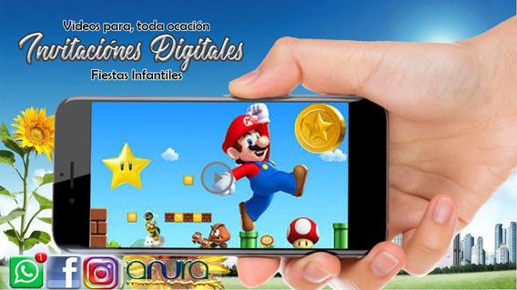 Tarjeta Invitacion Mario Bros Invitaciones Para Fiestas