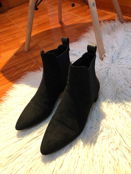 Botas De Gamuza Negra Zara Mujer Excelente Estado