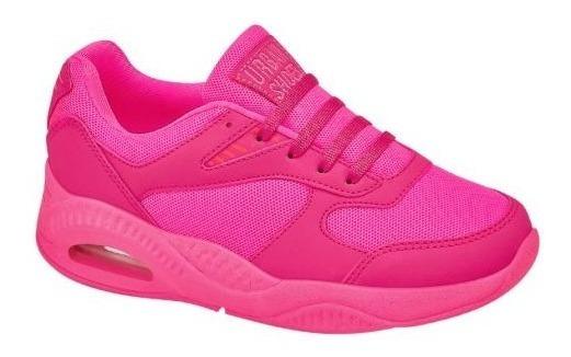 Tenis Para Niña Urban Shoes Fucsia Neon 833413 T1-220 A