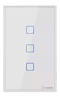 Sonoff T2 3 Canales Rf Wifi Tecla Pared Touch Wifi Domotica