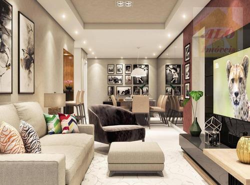 Apartamento Com 3 Dormitórios À Venda, 95 M² Por R$ 529.900,00 - Canto Do Forte - Praia Grande/sp - Ap3355