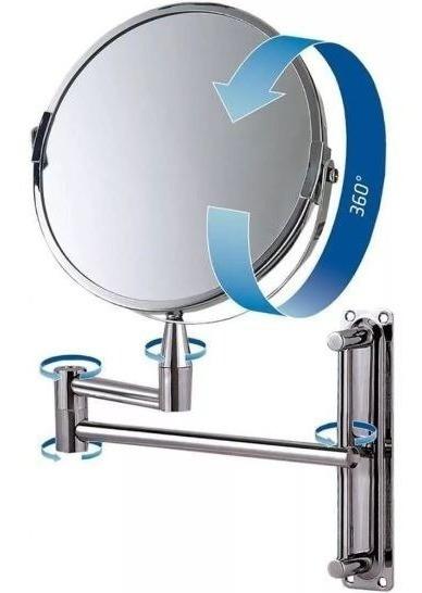 Espelho Maquiagem Profissional Articulado 360º Parede 8482