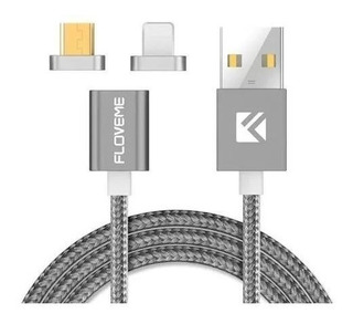 Cable Magnético Para iPhone Y Android Micro Usb 2 Conectores