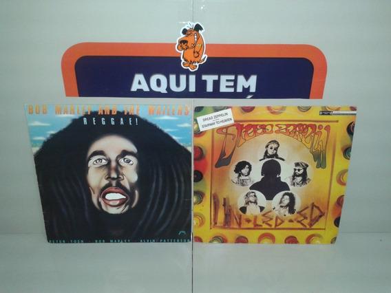 Lp Vinil Bob Marley E Dread Zeppelin - Raro - Lote 2 Discos
