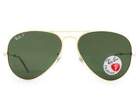 d7b5b8cde Oculos Ray Ban Aviator Polarizado Tamanho 58 - Óculos De Sol no ...