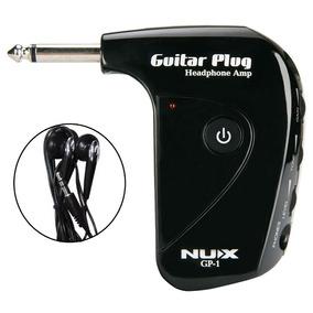 Mini Amplificador P10 Guitarra Baixo Fone De Ouvido Nux Gp