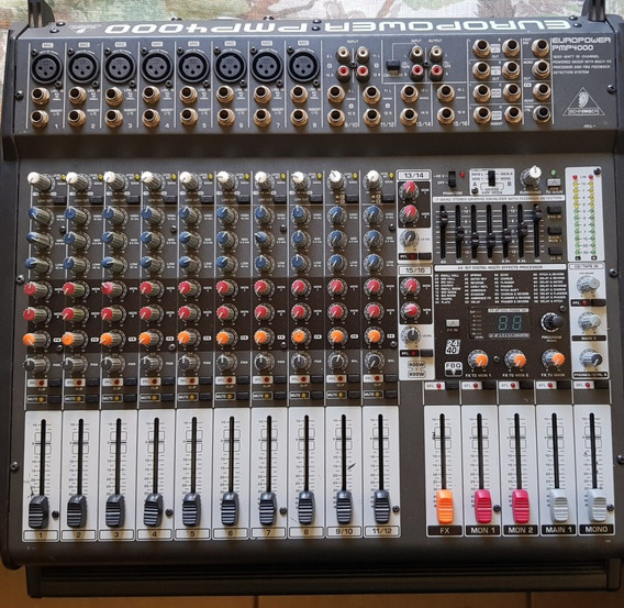 Mesa De Som Amplificada Behringer Europower Pmp 4000 De 16 C