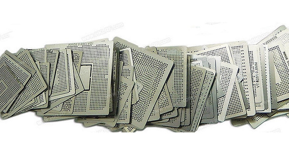 Stencil P/ Reballing Bga Kit Coringa C/ 22 Pcs Para Games