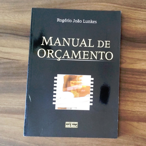 Manual De Orçamento - Rogério Lunkes