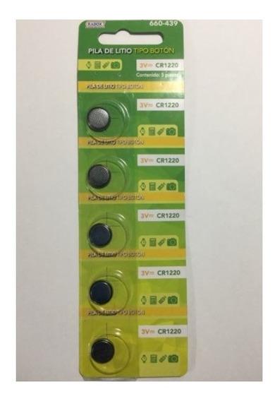 Paquete 5 Pz Pila Bateria Boton 3v Cr1220 - T2002