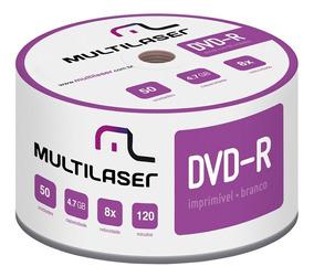 Midia Virgem Dvd-r Shrink Imprimível Multilaser 120min 4.7gb