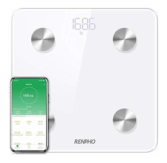 Renpho Analizador De Grasa Corporal Con Bluetooth., Blanco
