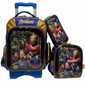 Avengers Endgame Iron Thanoskit Mochila Prim 6d Carro Lonch