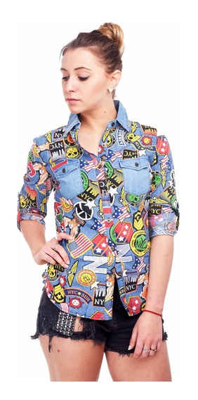 Customs Ba Camisas Mujer Camisa Importada Entallada Full