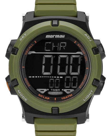 Relógio Masculino Mormaii Digital Pulseira Silicone Verde