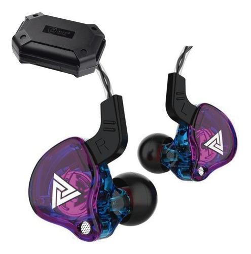 Imagen 1 de 5 de Qkz Ak6 Con Micro + Estuche Audifonos Auriculares Purpura