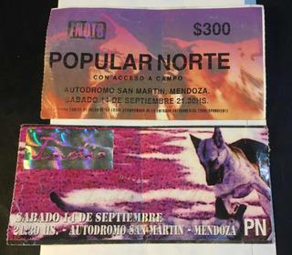 Entrada De Colección Indio Solari-aut. San Martín Mendoza-