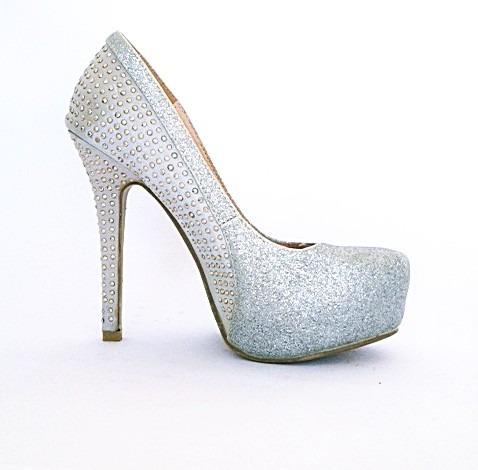 Sapato Feminino Salto Alto Importado Luxo Brilho 037