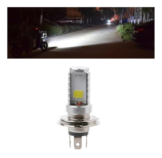 Lampada Led Super Branco H4 6500k Moto Corrente Alternada