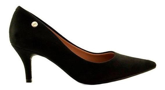 Zapatos Stilletos Mujer Nobuck Negro Taco Bajo Vizzano