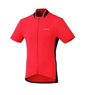 Camisa Shimano De Ciclismo Vermelha/preta Tamanho M
