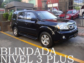 Honda Pilot 2011 Blindada Nivel 3 Plus 4x4 Remato!!