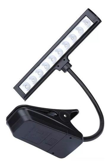 Luminária Para Leitura Andaluz Fl9030 - 10 Leds Preto