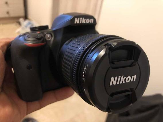 Máquina Fotográfica Nikon D3400, Lente 18-55mm