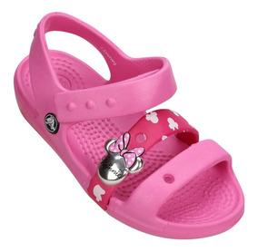 Sandália Crocs Infantil Keeley Sandal Minnie Mouse Original