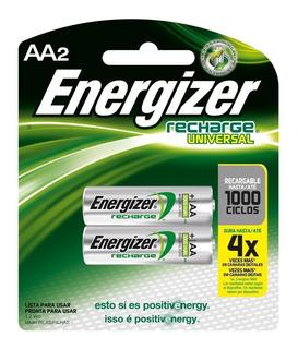 Pack De Pilas Recargables Energizer Aa2 (12 Pilas)