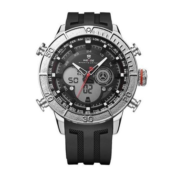 Relógio Masculino Weide Wh-6308 Anadigi Prata / Nfe Garantia