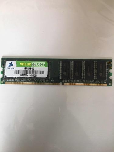 Imagen 1 de 1 de Memoria Ddr 512 Mb 400 Mhz Corsair