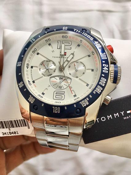 Relógio Tommy Hilfiger Dual Time Calendário 1790871 Original