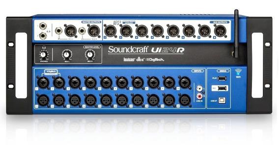 Mesa De Som Mixer Digital Soundcraft Ui24r (24 Canais)