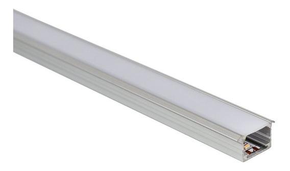 Perfil Led Standard Em Alumínio P/ Fitas Led Embutir 2,5 Mtr